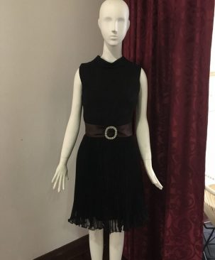 50s chiffon cocktail dress