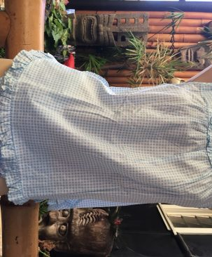 Blue gingham nightie set