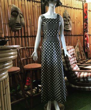 Spotty lurex dress